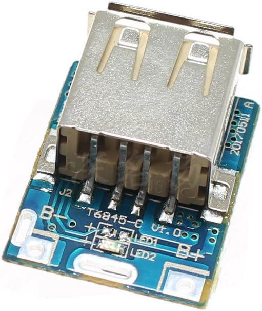 10 ST/ÜCKE Boost Step Up Netzteil Modul 5 V 1A Lithium Batterie USB Ladeschutz Bord 134N3P DIY Ladeger/ät Led-anzeige
