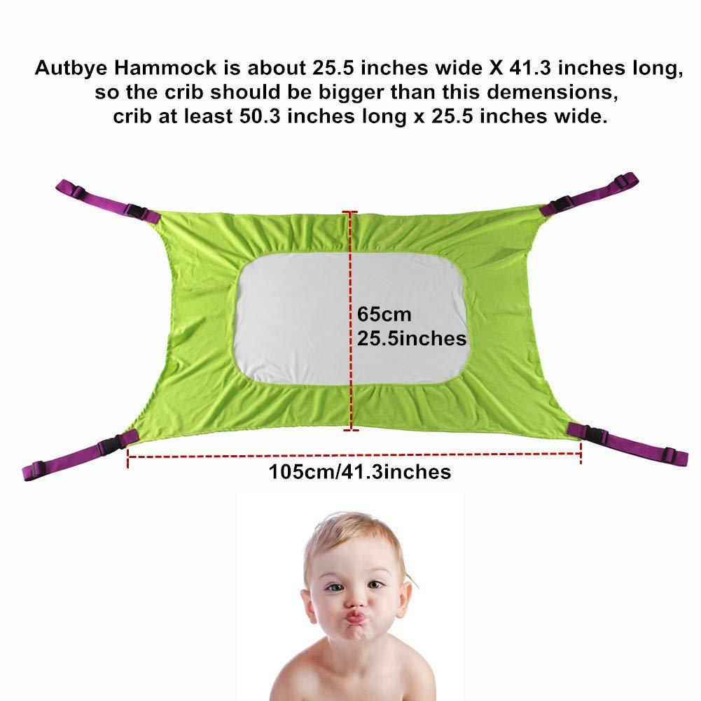 2-12 mesi Autbye per neonati amaca per culla confortevole lettino per culla resistente amaca migliorata per neonato sicurezza per il neonato regolabile per neonati letto per dormire