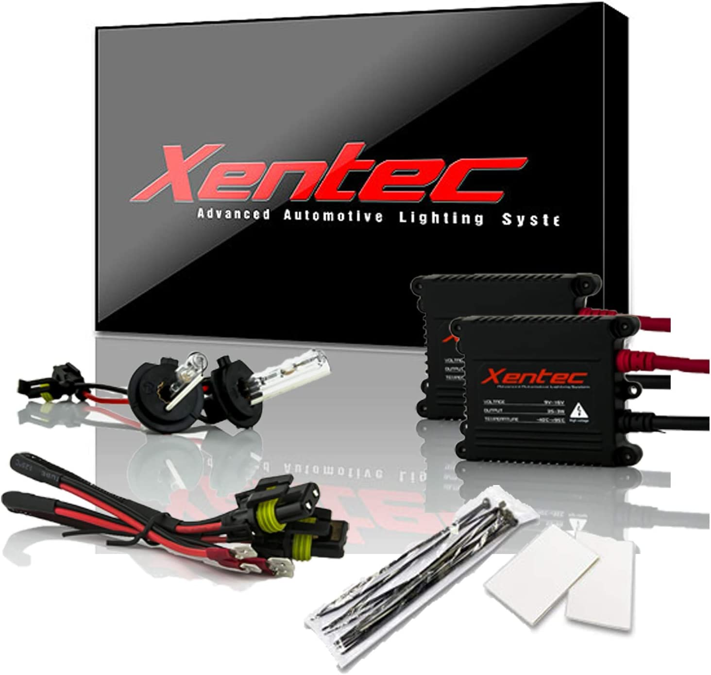 Xentec H7 6000K HID xenon bulb x 1 pair bundle with 2 x 35W Digital Slim Ballast (Ultra White)