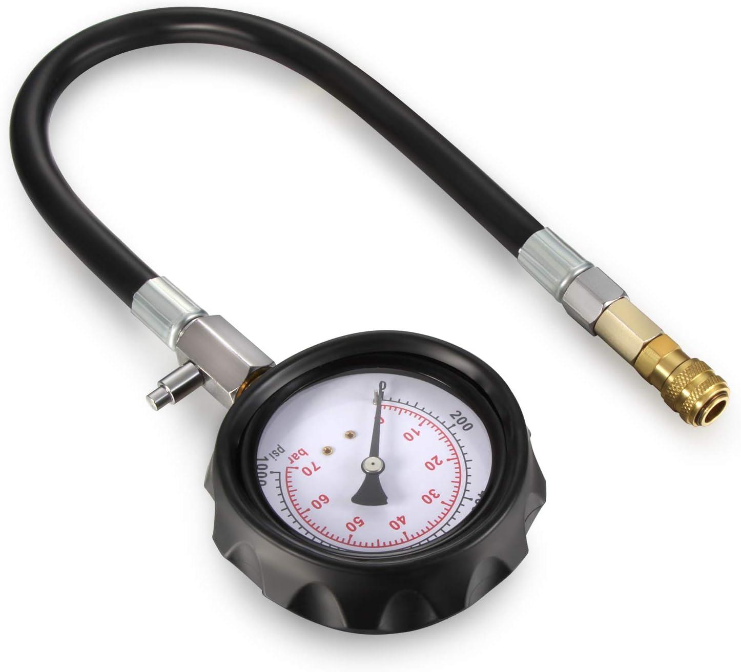 Dromedary Testeur de compression pour moteur diesel 0-70 bar