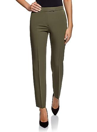 cbefa681837 oodji Collection Femme Pantalon Classique Slim Fit  Amazon.fr ...