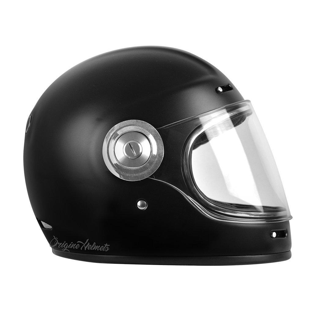 , Stripe Black 59-60 CM Caf/é Racer Casco Integrale Fibra Vetro Origine Vega L