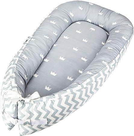 👶【100% algodón y antialérgico】 - Luchild nido bebe hecho de 100% algodón, permeabilidad al aire, hi