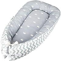 Luchild babybo för nyfödda och spädbarn, babypund koka dubbelsidig, babybassinett för säng/solstol/bo/pod/barnsäng/sömn…