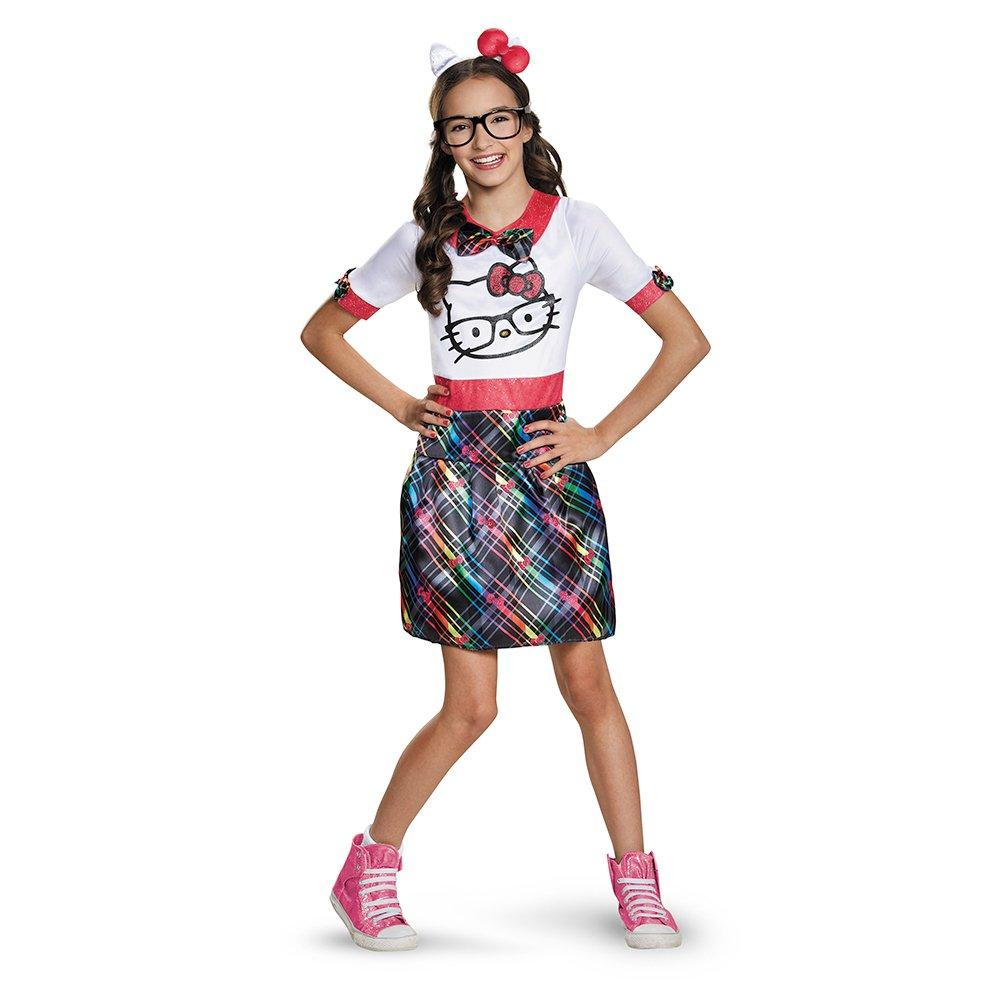amazoncom hello kitty nerd teen costume toys games - Halloween Hello Kitty Costume