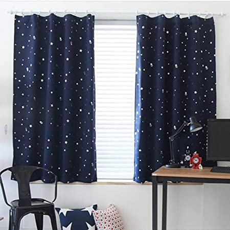 STAR WARS Valance Blue Black Gray Window Treatment Curtain