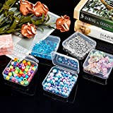 SATINIOR 12 Pack Clear Plastic Beads Storage