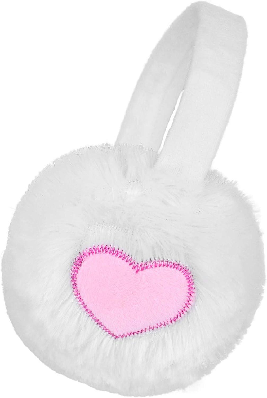 Women Girls Winter Warm Heart//Paw Design Faux Fur Fashion Ear Warmers