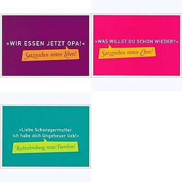 Postkarten Set Sprüche Humorwir Essen Jetzt Opa Amazonde