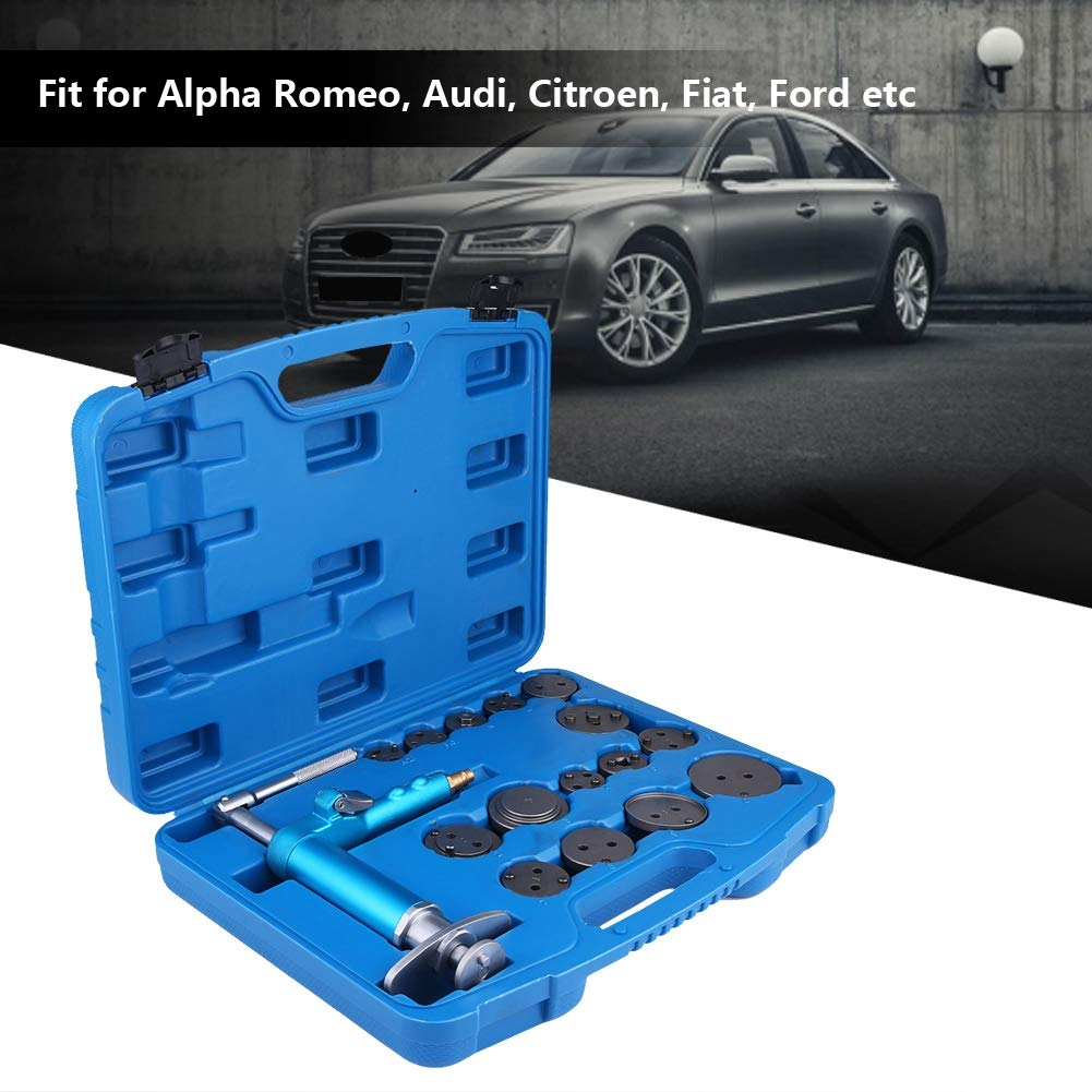 Amazon.com: Air Brake Piston Reset Wind Back Repairing Tool, 16pcs Universal Master Disc Brake Caliper Compressor Tool Set with 15 Adapters: Automotive