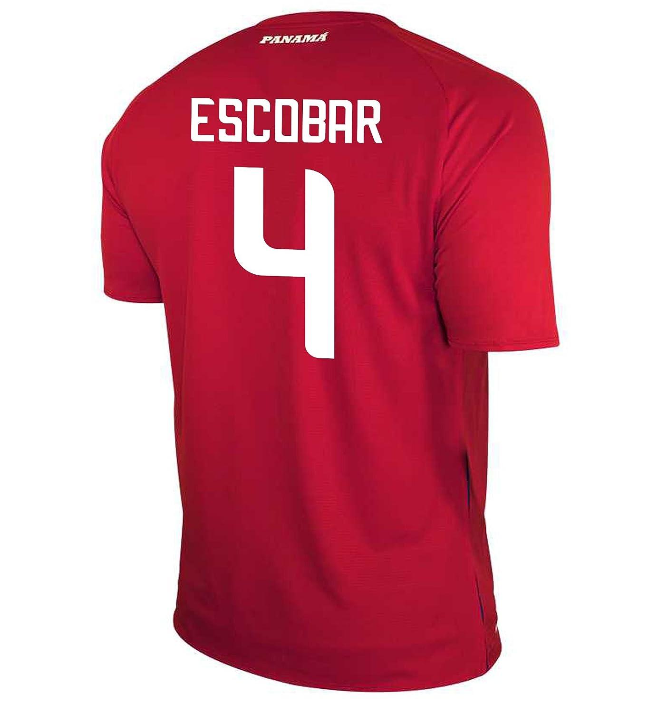 New Balance Men's ESCOBAR #4 Panama Home Soccer Jersey FIFA World Cup Russia 2018/サッカーユニフォーム パナマ ホーム用 エスコバル #4 B07D3F51D5US X-Large