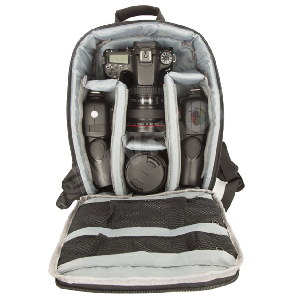 Professional camera Backpack Waterproof for DSLR /SLR Cameras (Canon , Nikon , Sony and etc ) , Tripods , Flashes, Lenses and Accessories #A1705 Grey by Beststar