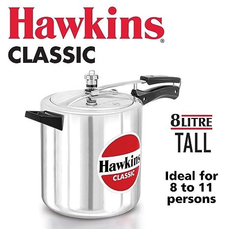 Amazon.com: Olla a presión de aluminio Hawkin Classic ...