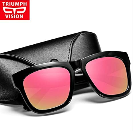16d9e21ddf TRIUMPH Vision Male Polarized Sunglasses Men Brand Black Square Shades  UV400 Polaroid Sun Glasses for Men