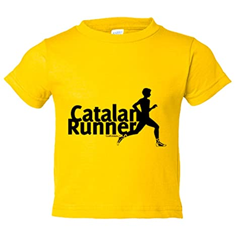 Camiseta niño Catalan Runner Cool Catalans - Amarillo, 3-4 ...