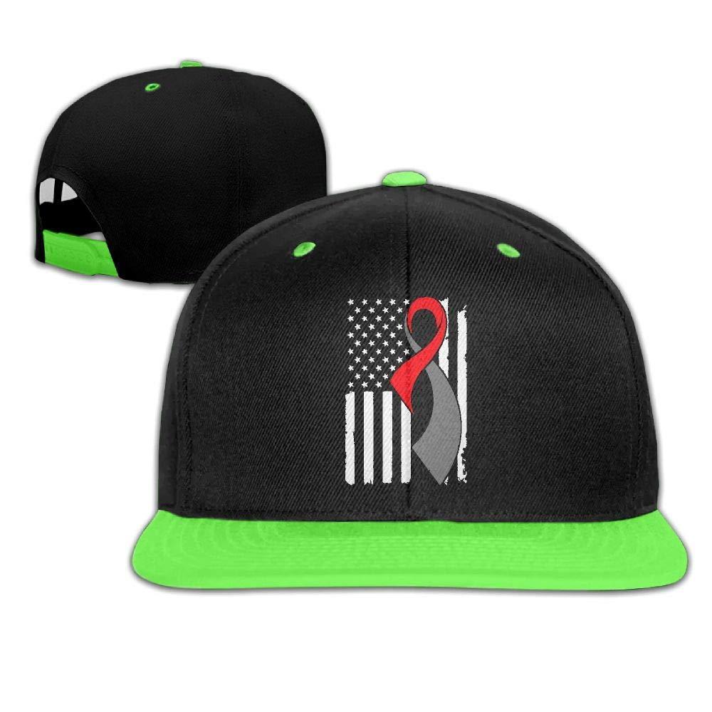HERSTER Childrens Boys Girls Diabetes Cancer Awareness Flag-1 Baseball Cap Hats Trucker Hiphop Cap Hats
