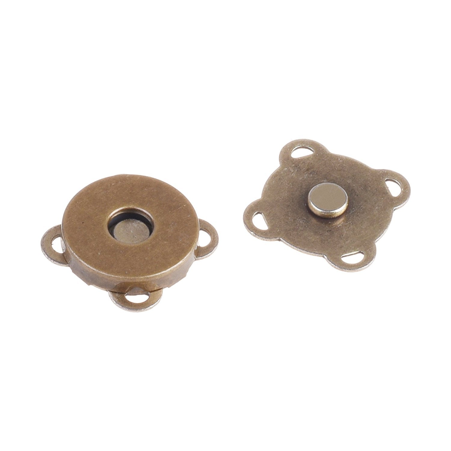 Bronze BCP 10 Sets 18mm Sew in Magnetic Bag Clasps Plum Blossom Bag Button Great for Sewing Craft Clothing Bag Clasps Snaps
