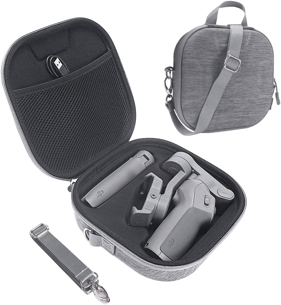HIJIAO Hard Carrying Case for DJI Osmo Mobile 3, Waterproof Travel Bag for Osmo Mobile 3 Accessories (Gray)