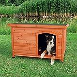 【ドイツTRIXIE】ドイツTRIXIE ドッグハウス屋外用犬小屋!TRIXIE ナチュラドッグケンネル フラットルーフ ブラウン M-L