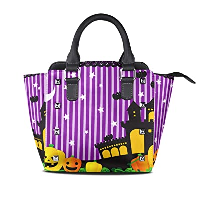 Image Unavailable. Image not available for. Color  DEYYA Women s Halloween  Party Top Handle Tote Handbags ... 8b7cfe6cd