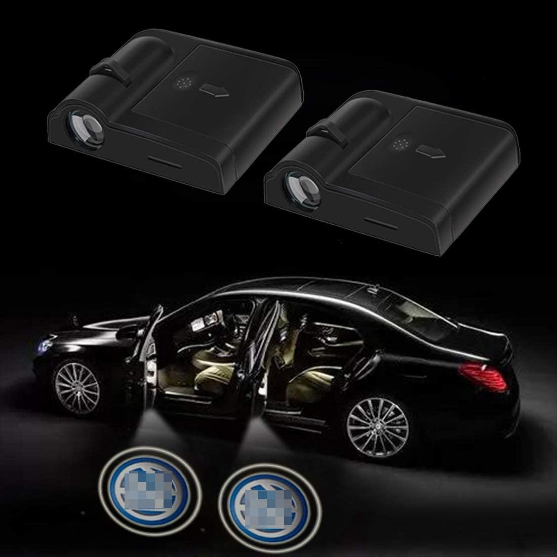 2 Pcs Wireless Car Door Led Welcome Laser Projector Logo Light Ghost Shadow Light Lamp Logos Kit fit for subaru