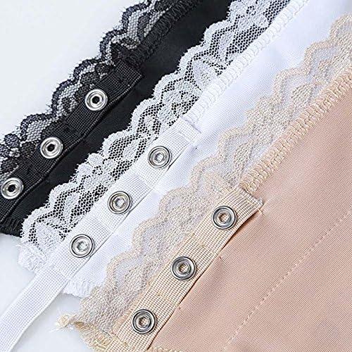 Women Secret Clip-on Mock Lace Camisole Bra Overlay Modesty Panel Metal Button