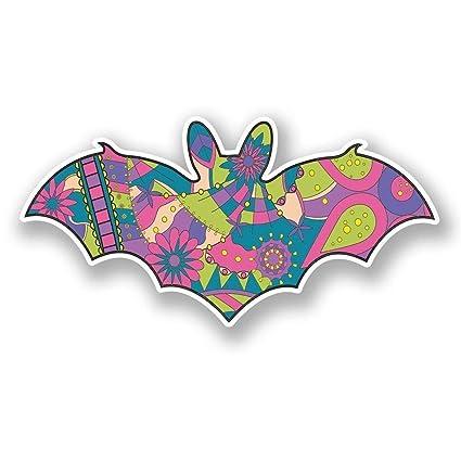 Amazoncom Flower Bat Vinyl Sticker Decal Laptop Car Bumper Sticker