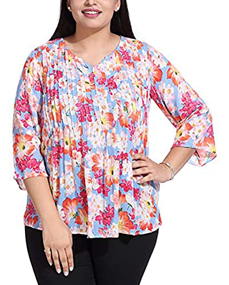 30a40c8e123 The Pink Moon Women s Plus Size Top  Amazon.in  Clothing   Accessories