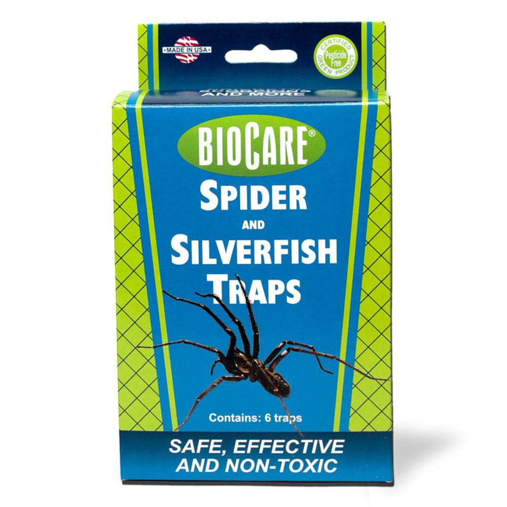 BioCare | Superior Spider & Silverfish Traps (Contains 24 Complete Traps) | Non-Toxic & Pesticide Free | Family & Pet Friendly| Made in USA by BioCare