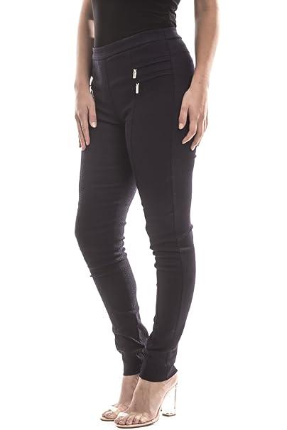e0b0ba0222a9d7 Joseph Ribkoff Jacquard Pattern Slim Fit Stretch Midnight Blue Pant - Style  173464 - Size 4