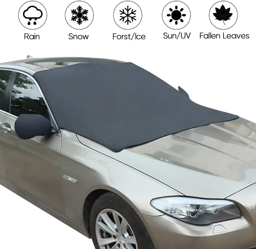 Neve Ghiaccio Pioggia e Sole Copertura per Parabrezza Auto Magnetica Pieghevole Anti Ghiaccio Parabrezza Haofy Protezione antigelo per Auto 208 x 120 cm