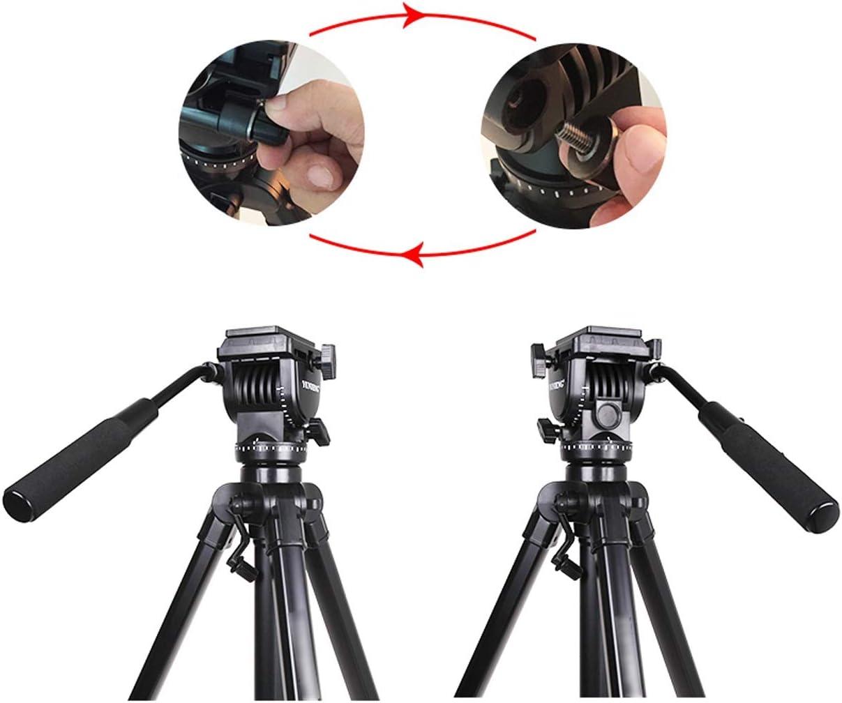 Size : C and Pulley CJGXJZJ Camera Tripod Aluminum Light Travel Digital SLR Camera Expandable Tripod Mobile Phone Self-Timer Tripod with Storage Bag Black Multi-Style Optional