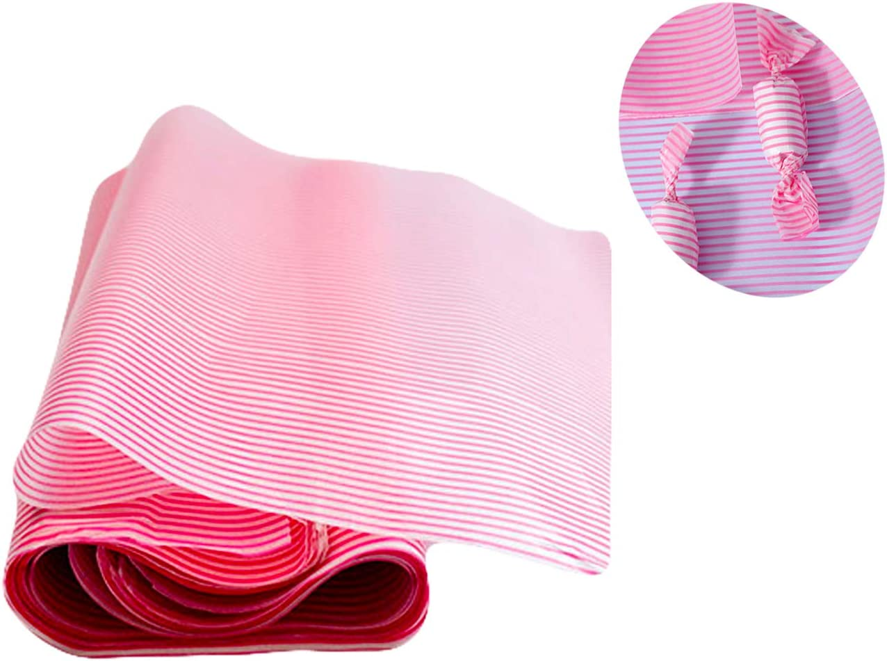 100 Pcs Wax Paper Sheets Greaseproof Waterproof Paper Deli Wraps Papers Food Wrapping for Food Basket Liner Applicable Scenarios Restaurants Churches BBQs(Pink Stripe)