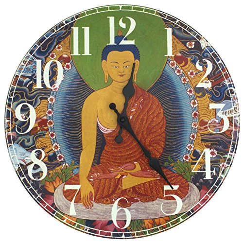 Oriental Furniture  The Enlightened Buddha Wall Clock