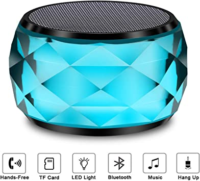 Hands-Free//TF//AUX-in//TWS Supported Speaker for iPhone Samsung Speakers Bluetooth Wireless Led Bluetooth Speaker Colored Chang Led Speaker LFS Wireless Speaker Bluetooth Home Night Light Speaker