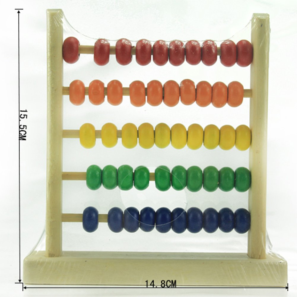 prettygood7 Small Abacus Educational Toy for Kids Childrens Wooden Early Learning Toy