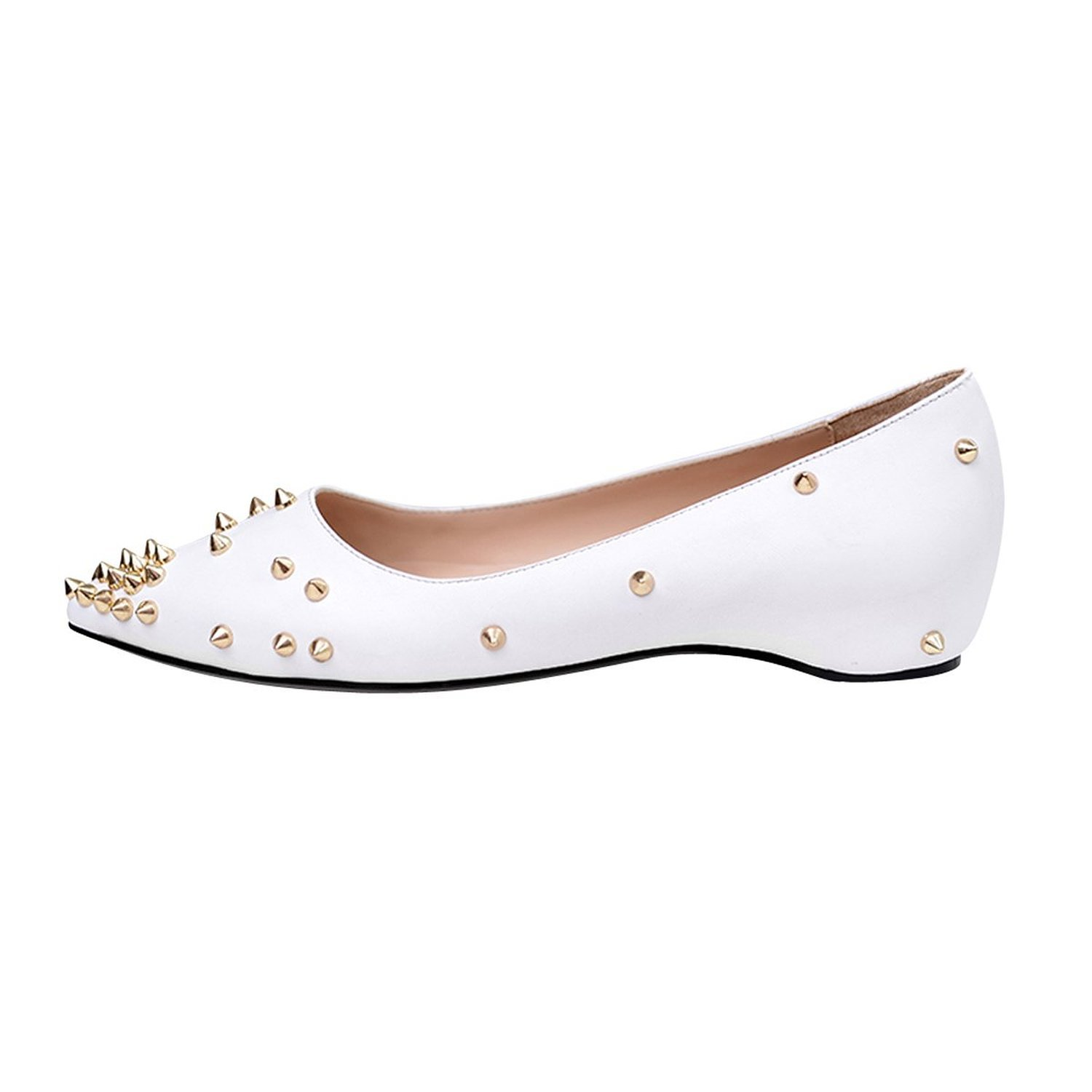 Mermaid Women's Shoes Pointed Toe Spiked Rivets Comfortable Flats B071R7ZNW8 US11 Feet length 10.56
