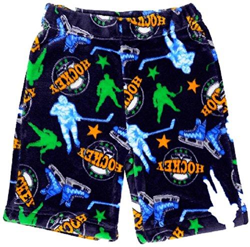 Sovereign Boys Soft Fleece Pajama & Lounge Short, Hockey, 2/3 (Hockey Pjs For Boys)