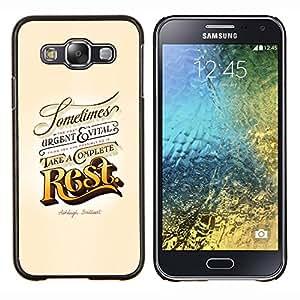 "Be-Star Único Patrón Plástico Duro Fundas Cover Cubre Hard Case Cover Para Samsung Galaxy E5 / SM-E500 ( Resto Oro Urgente Vintage Retro Vital"" )"