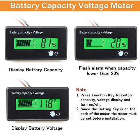 Fixitok Batteriekapazität Voltmeter Batterie Kapazität Elektronik