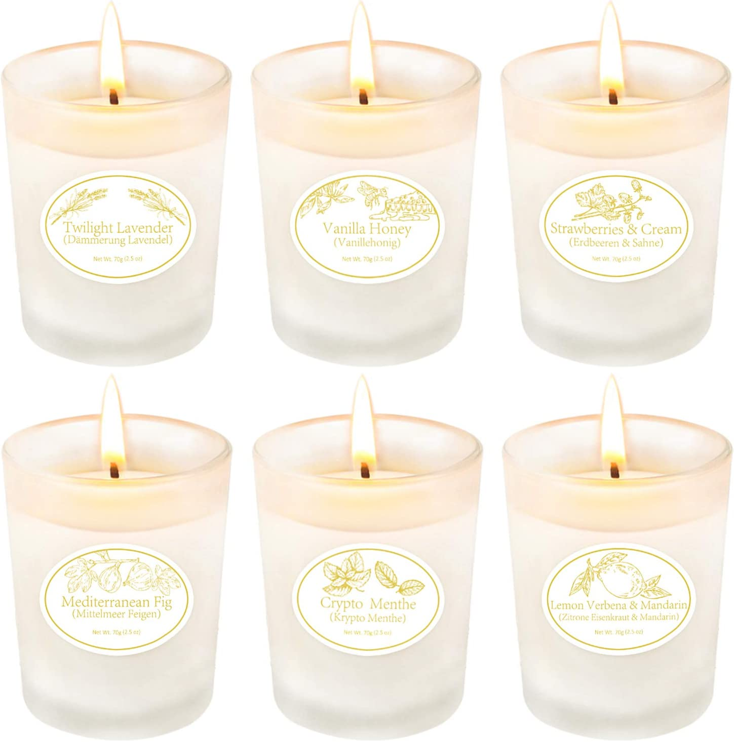Scented Candles Gifts for Women,Aromatherapy Candles for Home Scented,Soy Wax for Stress Relief Birthday Christmas, Party, Yoga, Bathing