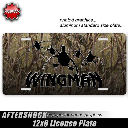 Cabelas Plate - Duck Hunting License Plate Camo Grass Wingman