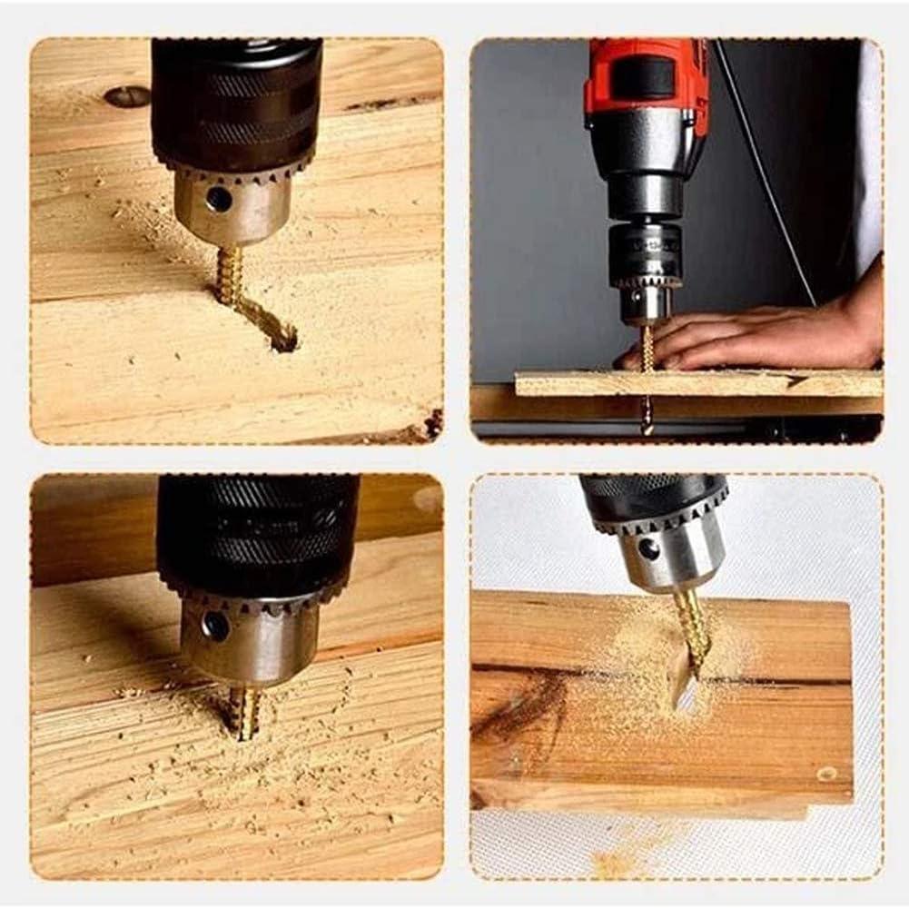 6Pcs 3mm-8mm Twist Drill Household Metal Punch for Metal Plastic Steel wang JESS Titanium Drill Bit Set Copper Wood Aluminum Alloy