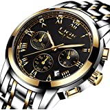 Lige Boy's Quartz Stainless Steel Watch, Color:Gold-Toned (Model: DS14)