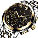 Lige Boy's Quartz Stainless Steel Watch, Color:Gold-Toned (Model: DS14)