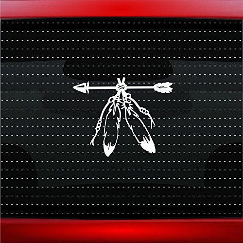 Feather #7 Indian Native American Car Sticker Truck Window Vinyl Decal COLOR: COPPER