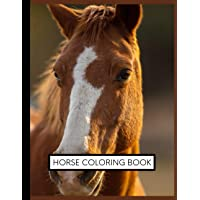 Horse Coloring Book: Coloring Toy Gifts for Toddlers, Kids Ages 4-8 ,Girls 4-8, 8-12 or Adult Relaxation   Cute Easy and…