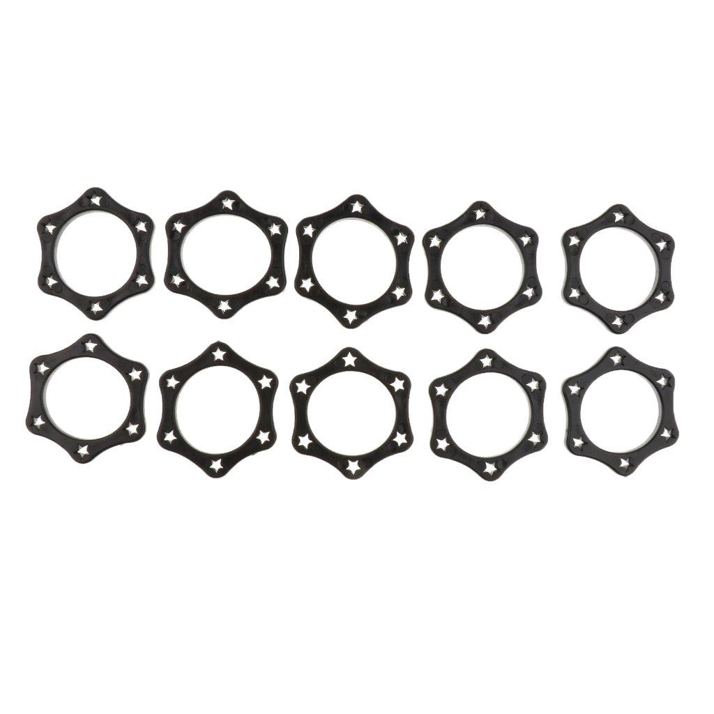 10 Hexagonal Mikrofon Schutzring Mikrofon Schlupf Halter Roller Mic Protection Ring Schwarze Generic STK0157008018