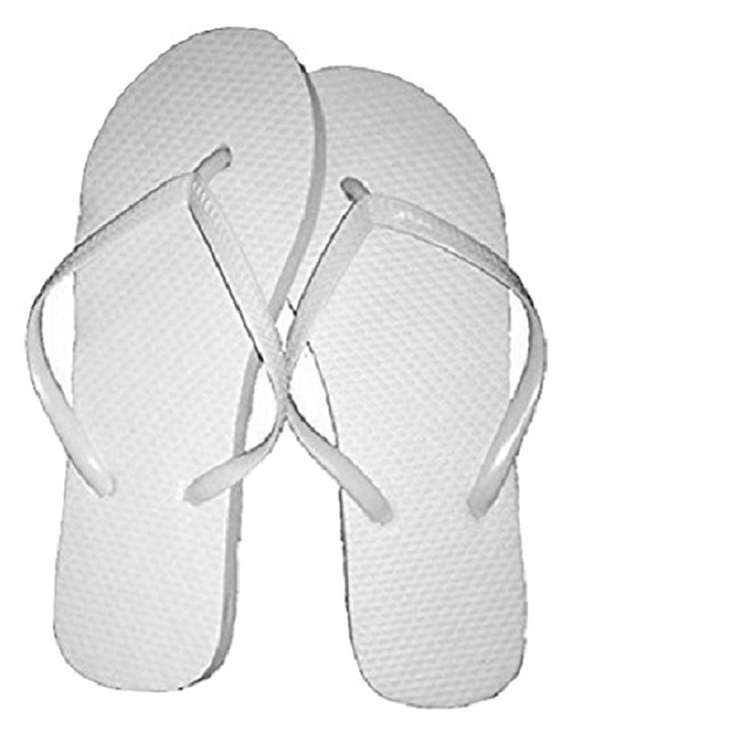 Amazon.com | Wholesale Ladies 72 Pairs Solid White Flip Flops | Flip ...