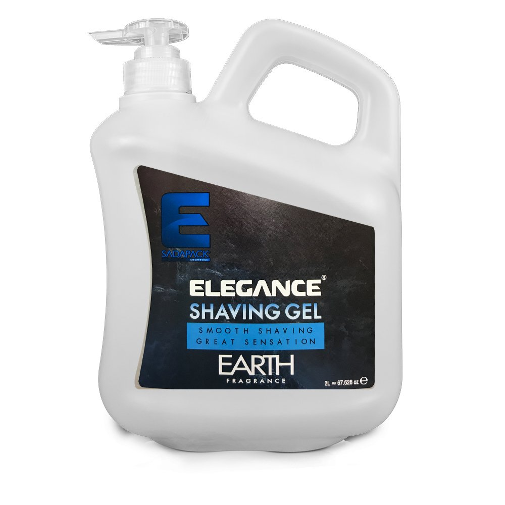 ELEGANCE PLUS Barber Salon Men Skin Blue Earth Shaving Gel 2L BB-20460